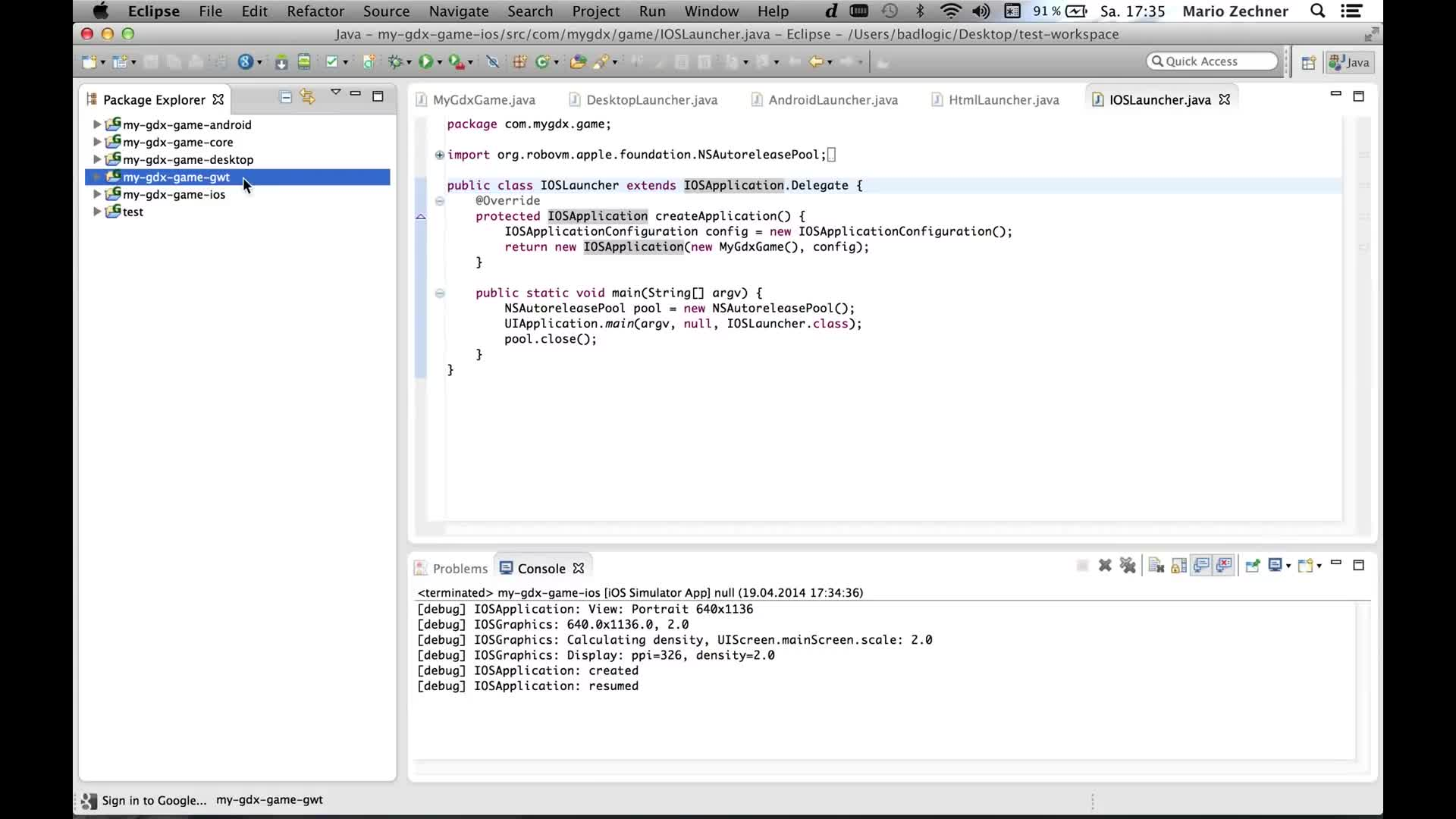 Running and Debugging in Eclipse