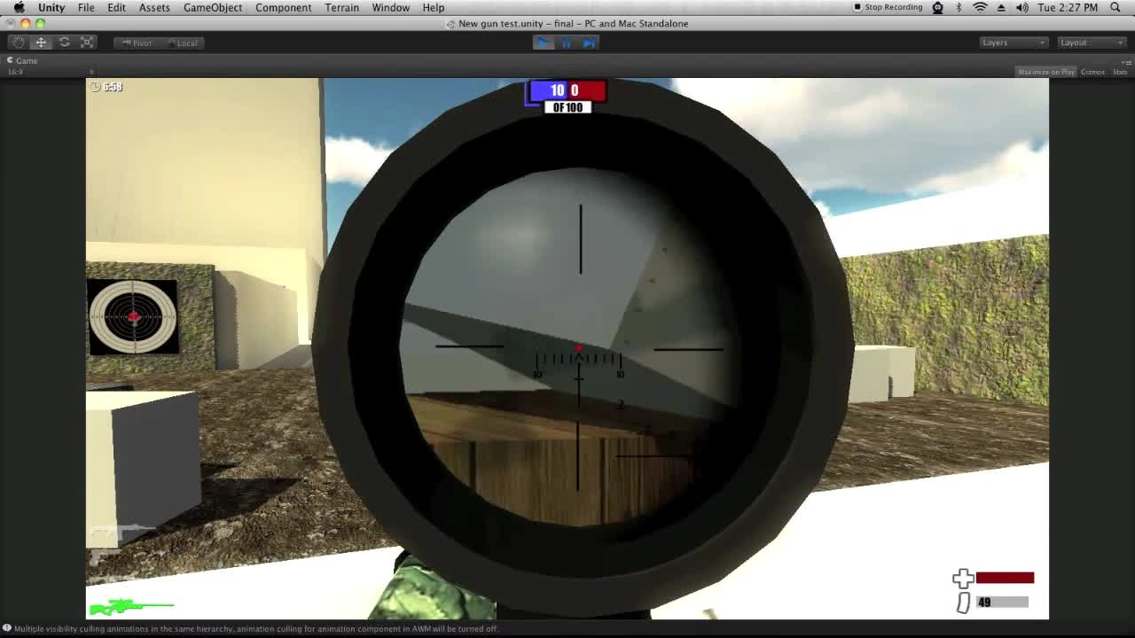 Unity 3d FPS game    HUD, ACR and others