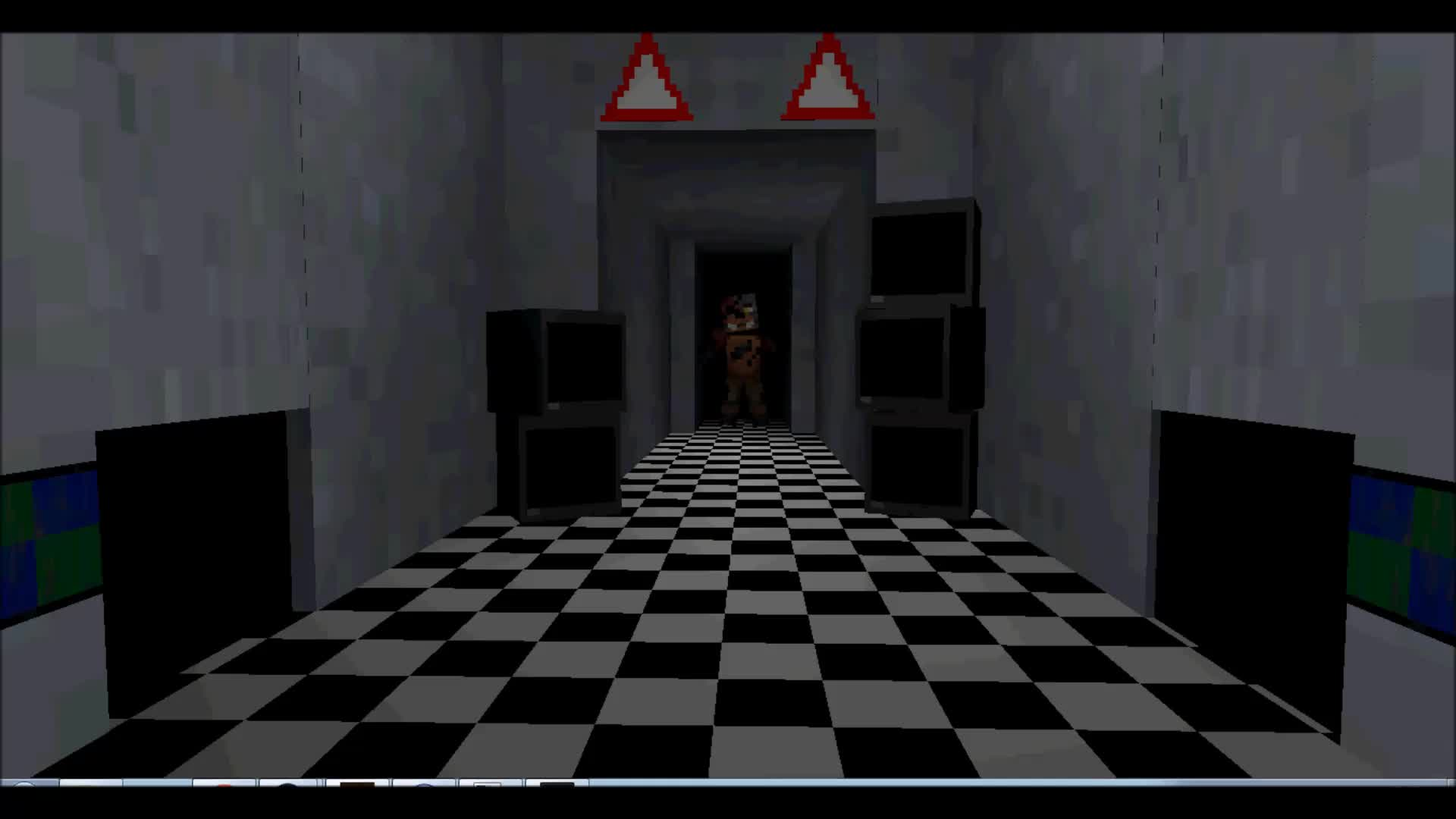 Minecraft Foyer Ideas : Foxy s jumpscare from hallway video five nights in