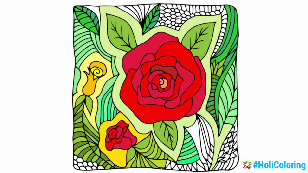 Coloring Flower - #HoliColoring Coloring book for adults video - Mod DB
