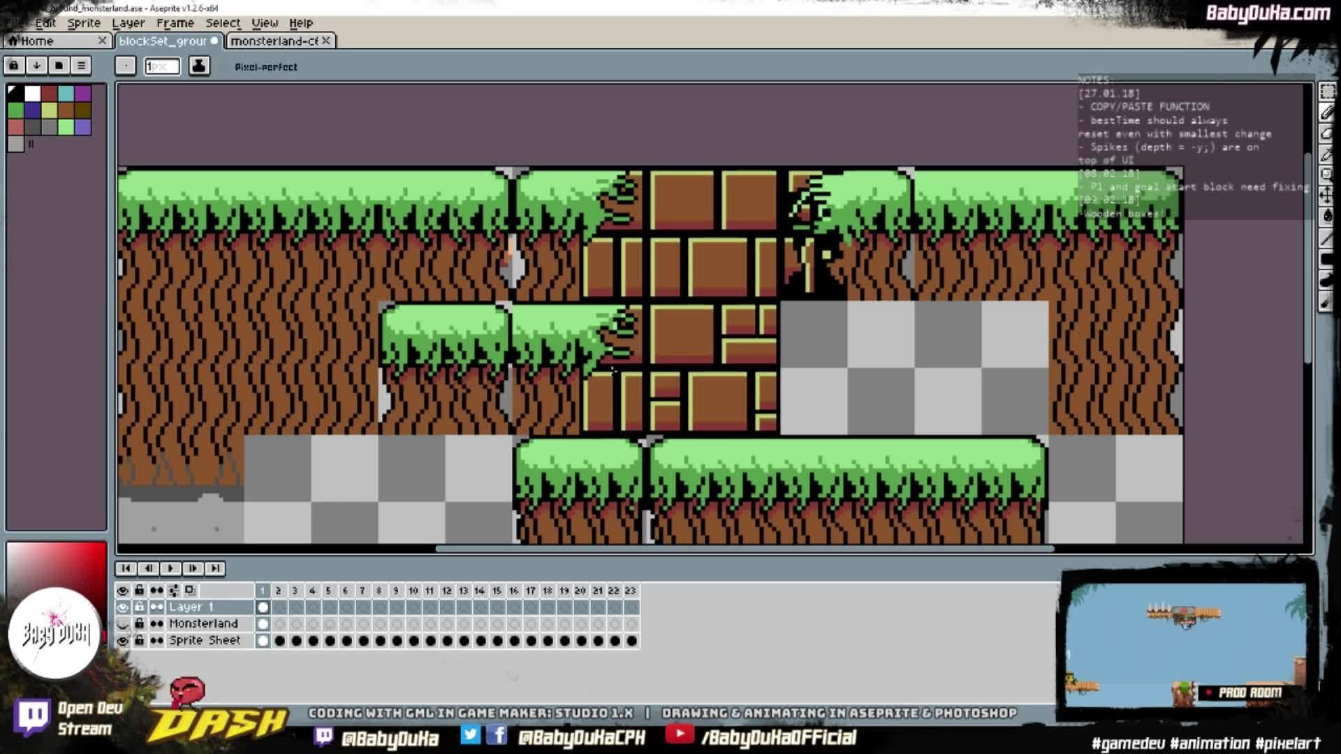 Commodore 64 Palette Block Set: Monsterland!