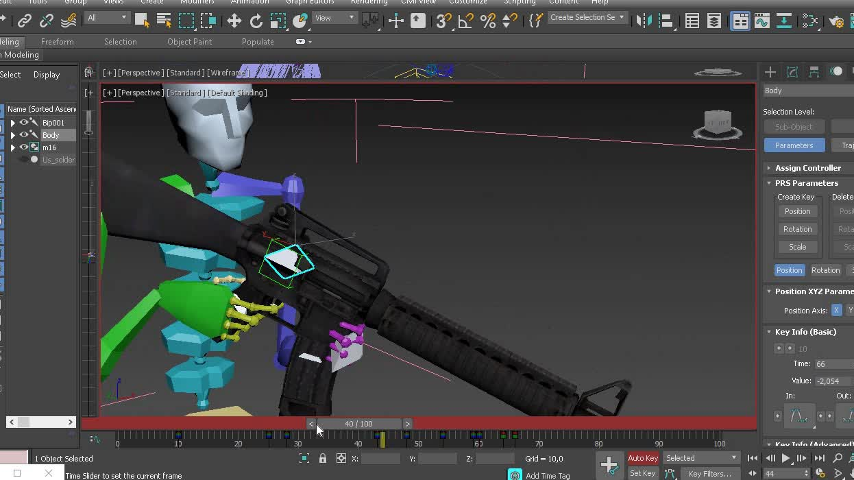 My first custom animation in 3DS Max For UE4